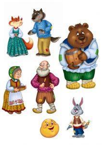 сказка колобок, модель сказки колобок, занятие на тему сказки в средней группе