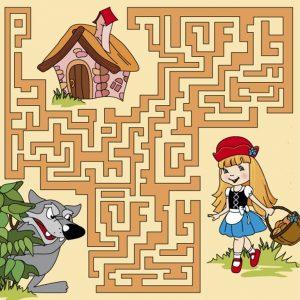 найди дорогу к красной шапочке, игра найди дорогу к дому