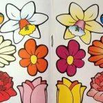 рисование цветов, трафареты цветов