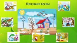 признаки весны для дошкольников, занятие в младшей группе на тему весна, признаки весны