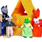 кукольный театр, занятие в детском саду кукольный театр