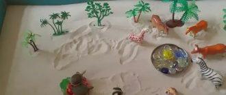 занятие с песком в младшей группе