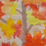 осенние листья, рисование листьями