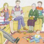 семья, картинка семья, развитие речи семья