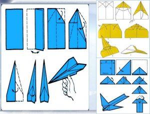самолет оригами для детей