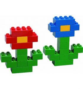 лего, цветы из лего