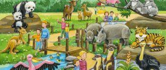 Конспект занятия в старшей группе: «Экскурсия в зоопарк»
