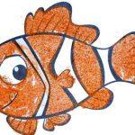 рыбка рисование песком